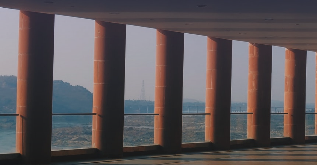 Pillars in a building