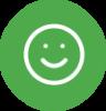 green smiley face icon